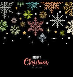 colorful snowflake for merry christmas vector image vector image