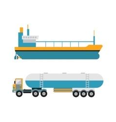 Gas oil transportation van vector image vector image