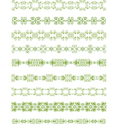 green floral border vector image