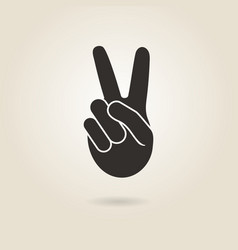 hand gesture victory vector image