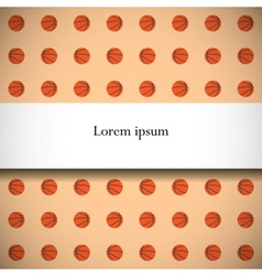 Seamless pattern with basketball balls vector image