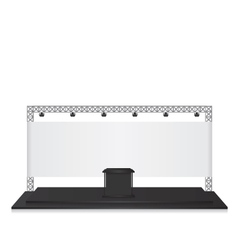 Trade exhibition stand black vector