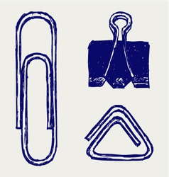 a paper clip vector image vector image