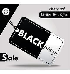 Black Friday sales tag 2 vector image vector image