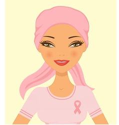 Breast cancer woman vector image