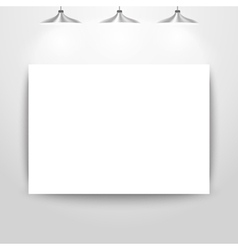 Empty gallery wall for images and advertisement vector image vector image