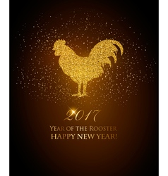 Happy New Year 2017 background Year of the Rooster vector image vector image
