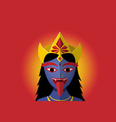 kali in portrait style vector image
