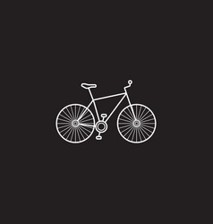 bicycle icon transport symbol graphic vector image vector image