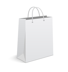 empty shopping bag on white background vector image