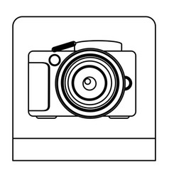 figure studio professional camera icon vector image