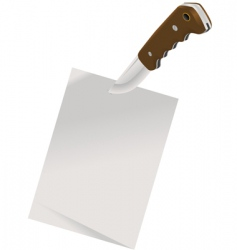 notepaper and knife vector image vector image