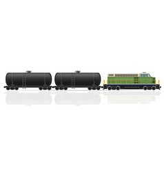 railway train 27 vector image vector image