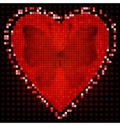 Valentine red frame vector image vector image