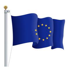 waving european union flag eu flag isolated on a vector image