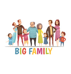 big happy harmonious family portrait vector image