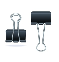 black binder clip set vector image