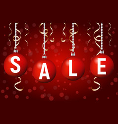 christmas sale poster template background vector image