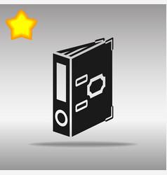 folder black icon button logo symbol vector image vector image