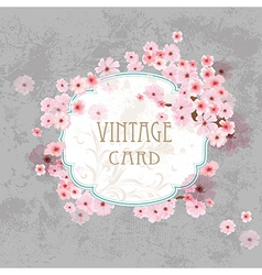 Vintage label for your design vector image