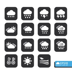 Weather Web Icons Set for web template vector image vector image