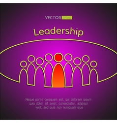 A team of people with a leader Leadership vector image