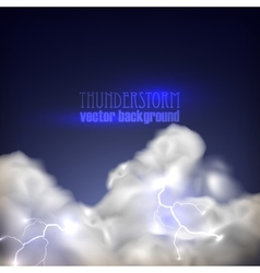 Abstract background with storm clouds vector