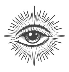 All seeing eye providence masonic symbol vector