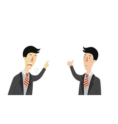 Angry and approving boss angry head company is vector