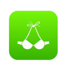 beach bra icon green vector image