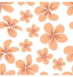 Beautiful Plumerias Seamless Pattern vector