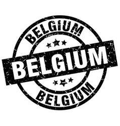 belgium black round grunge stamp vector image