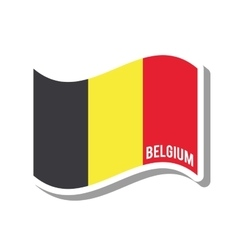 Belgium patriotic flag isolated icon vector