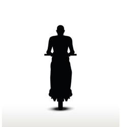 bike silhouette vector image
