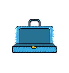 blue elegant suitcase open vector image