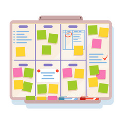 Board for planning with different tasks written vector