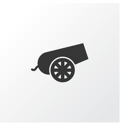 bomb icon symbol premium quality isolated cannon vector image