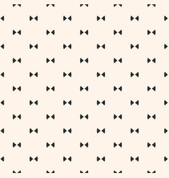 bow tie simple minimalist seamless pattern vector image