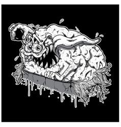 Brain monster vector
