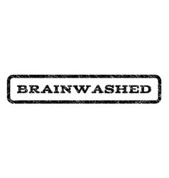 Brainwashed watermark stamp vector