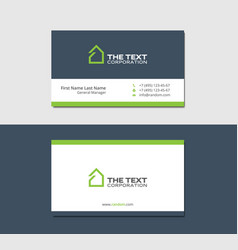 Business cards template with eco house vector