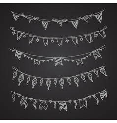 celebration holiday garland lamps christmas and vector image