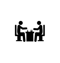 chess players icon element of chess for mobile vector image