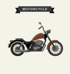 Chopper motorcycle in flat style vector