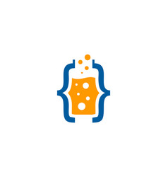 code science lab logo icon design vector image