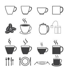 Coffee cup icon set vector