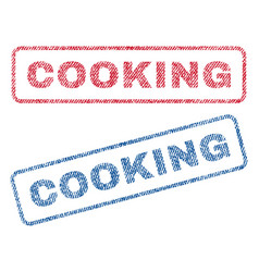 Cooking textile stamps vector