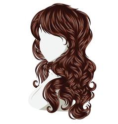 Curly hair style vector