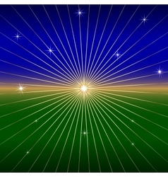Dark Background with star and rays vector image