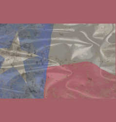 dirty texas state silk flag vector image
